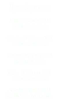 Upcoming events Friday 31 January 2020 De Maecht van Gent Saturday 15 February 2020 De Maecht van Gent Thursday 20 February 2020 Afterwork UZ Gent Friday 28 February 2020 De Maecht van Gent Saturday 7 March 2020 Sint-Michielsschool Merelbeke